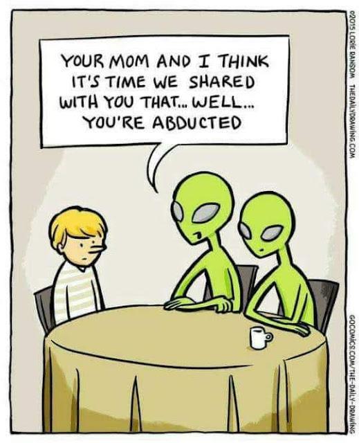 Meme de humor sobre abducidos