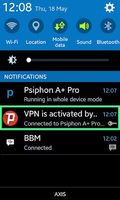 Cara Internetan Gratis Psiphon A+ Pro Axis Hitz Mei