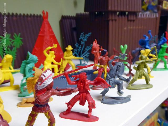 Toy Shop Museun Grundarfjördur Iceland Emil Kaffi plastic indians and cowboys