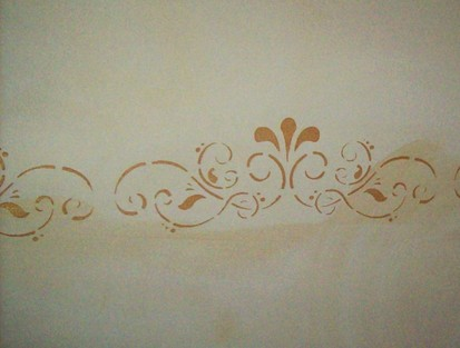Ditta santarelli angelo stencil e decoupage sui muri for Stencil per pareti