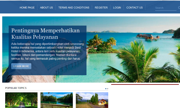 Scripts PHP Website Travel And Tour