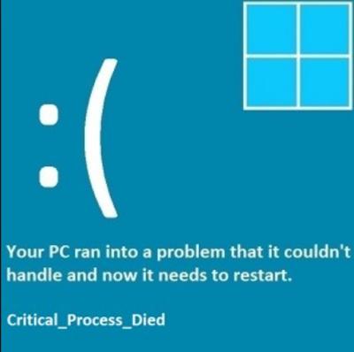 Cara Mengatasi Critical Prosess Died Windows | Forteknik.com
