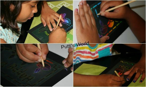 Easy Kids Craft Diwali Scratch Art Cards