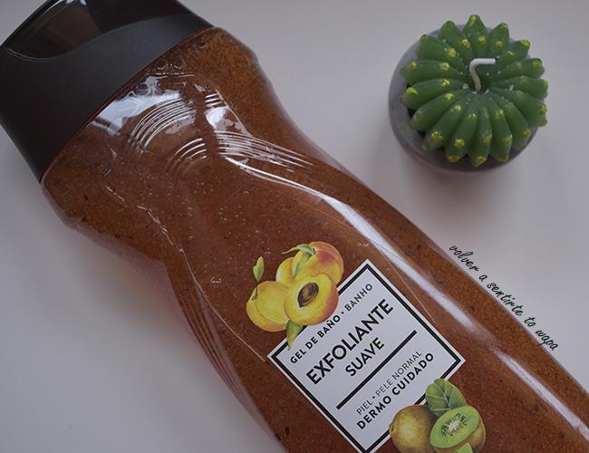 Gel de Baño Exfoliante  con olor a Melocotón de Mercadona