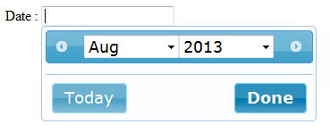 Develop For Fun: jQuery-UI Datepicker: Month and Year selector and