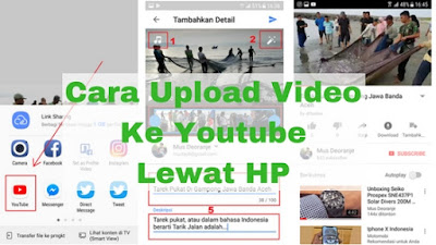 Cara upload video ke youtube lewat hp android