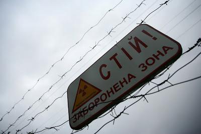 alerta sobre radiação 30 km da usina de chernobyl