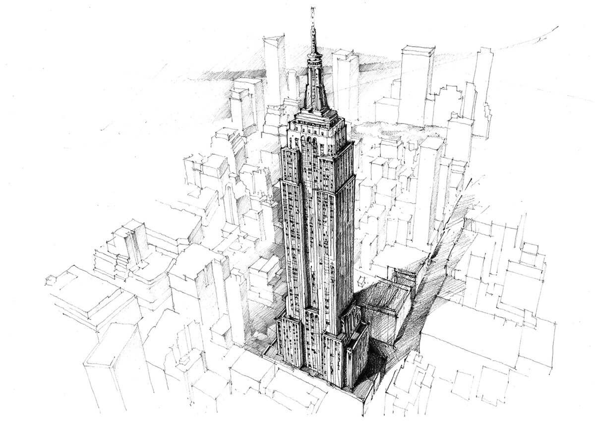 06-Empire-State-Building-New-York-US-Adelina-Popescu-Architecture-Drawings-and-Interior-Design-www-designstack-co