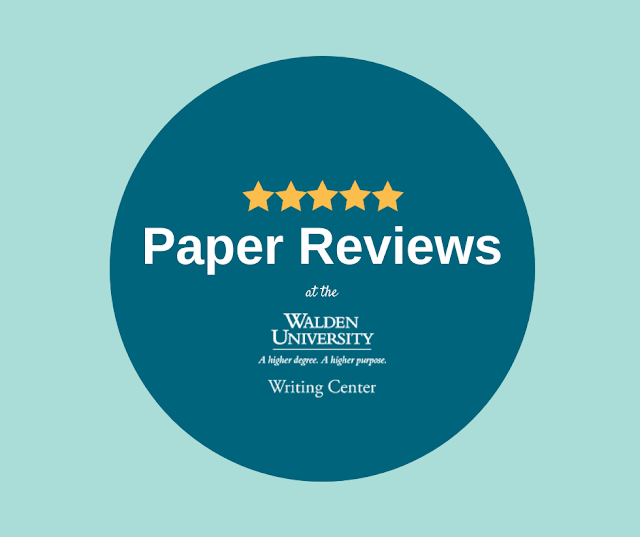 Paper Reviews at the Walden University Writing Center