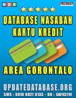 Jual Database Nasabah Kartu Kredit Gorontalo