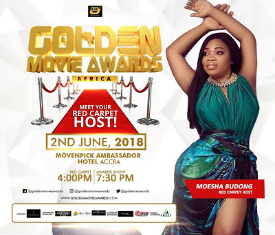 Moesha Boudoung To Host 2018 Golden Movie Awards Africa Red Carpet