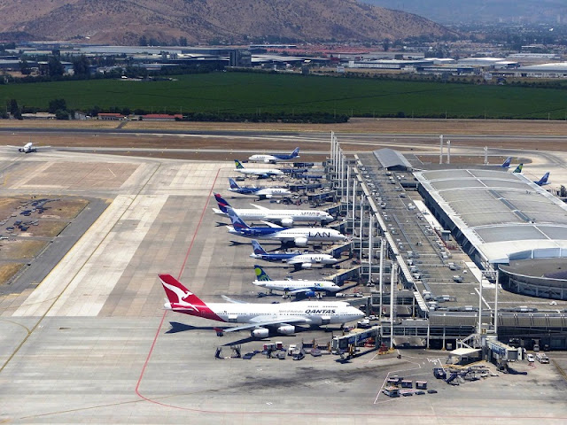 Trocar dinheiro no aeroporto de Santiago