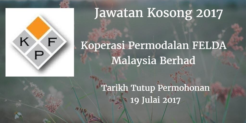 Jawatan Kosong Koperasi Permodalan FELDA Malaysia Berhad 19 Julai 2017