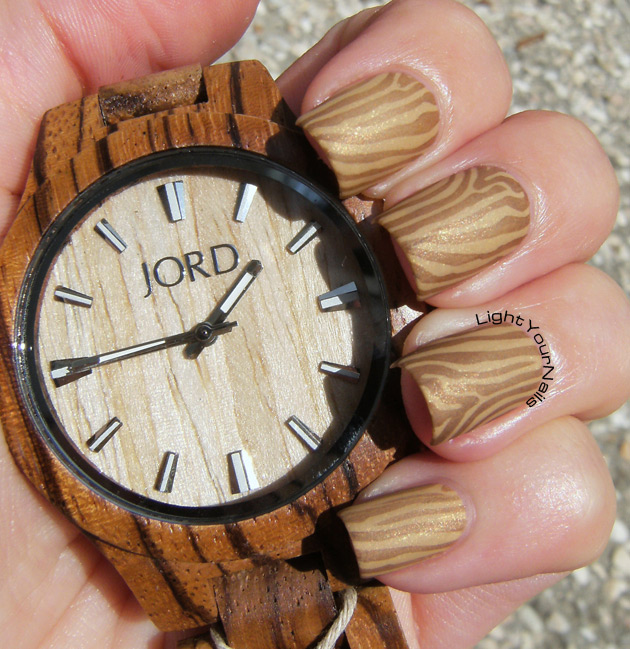 Jord wood watch inspired nails #jordwatch