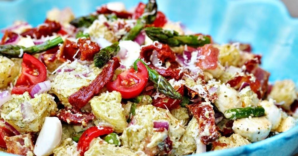 potatissallad sparris parmesan