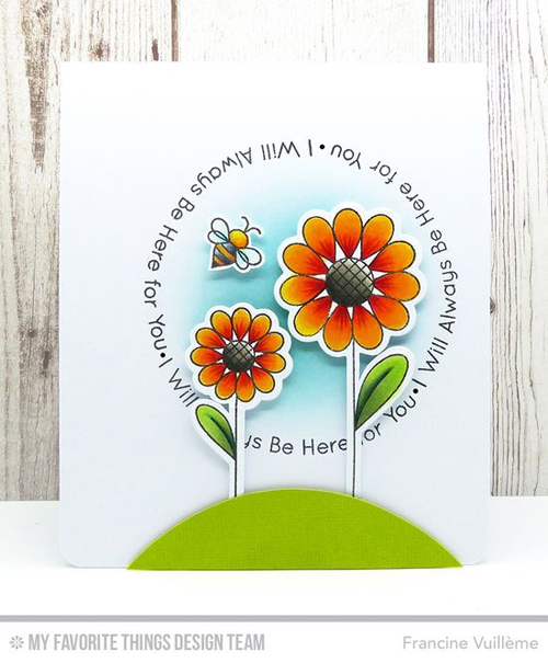 Handmade card from Francine Vuilleme featuring products My Favorite Things #mftstamps