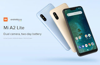 Xiaomi Mi A2 Lite Global Version 5.84 inch 4GB RAM 32GB ROM Snapdragon 625 Octa core 4G Smartphone - Black