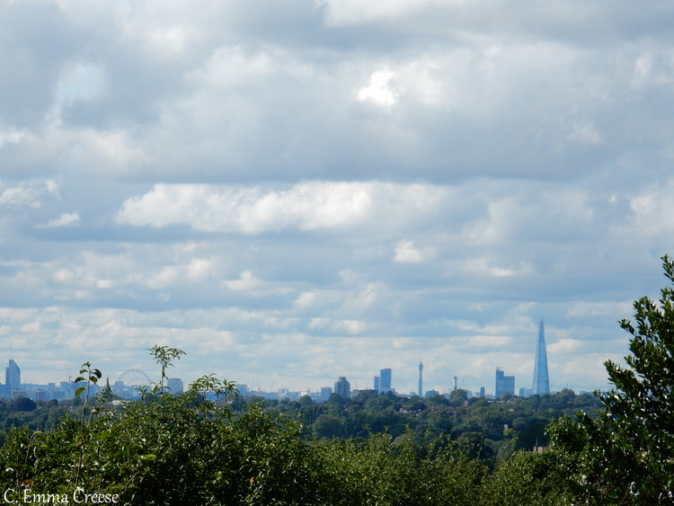 London Views and skyline from Eltham Palace