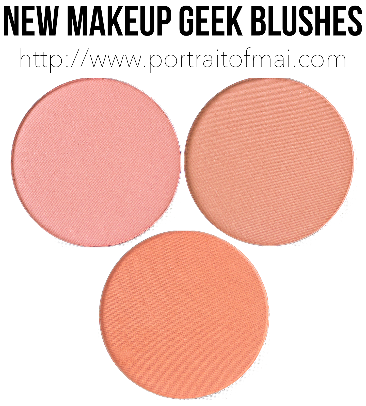 New Makeup Geek Blushes