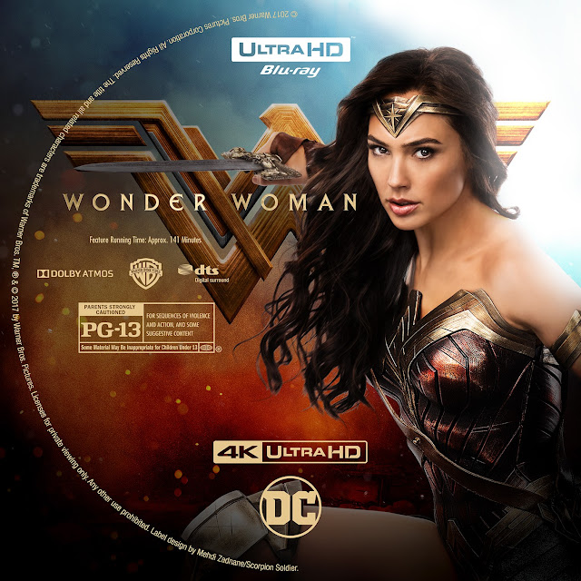 Wonder Woman 4K Bluray Label