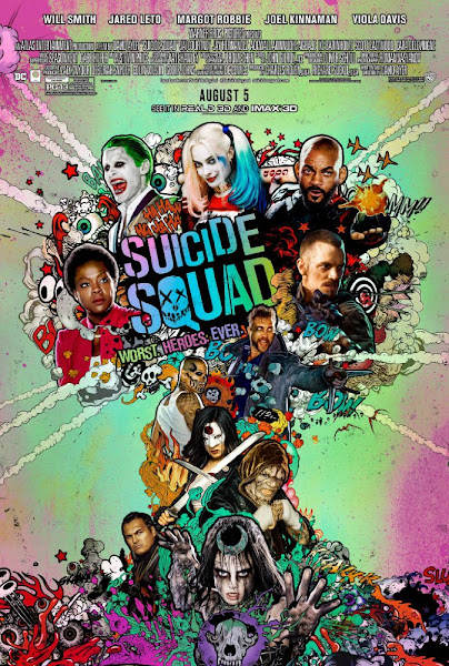 Poster Of Suicide Squad 2016 ExTended 720p English WEB-DL Full Movie Download