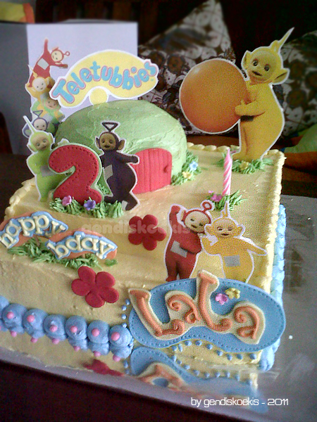 Gendiskoekis Teletubbies Birthday Cake