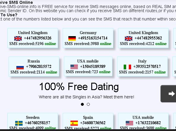 Receive sms online for free russian dating