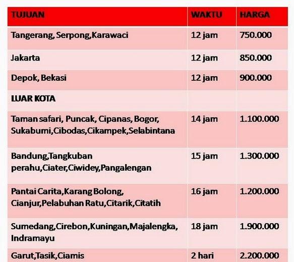 Rental Mobil Isuzu Elf Harga Sewa Mobil Isuzu Elf Jakarta