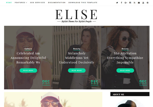 Elise Blogger Template Free Download