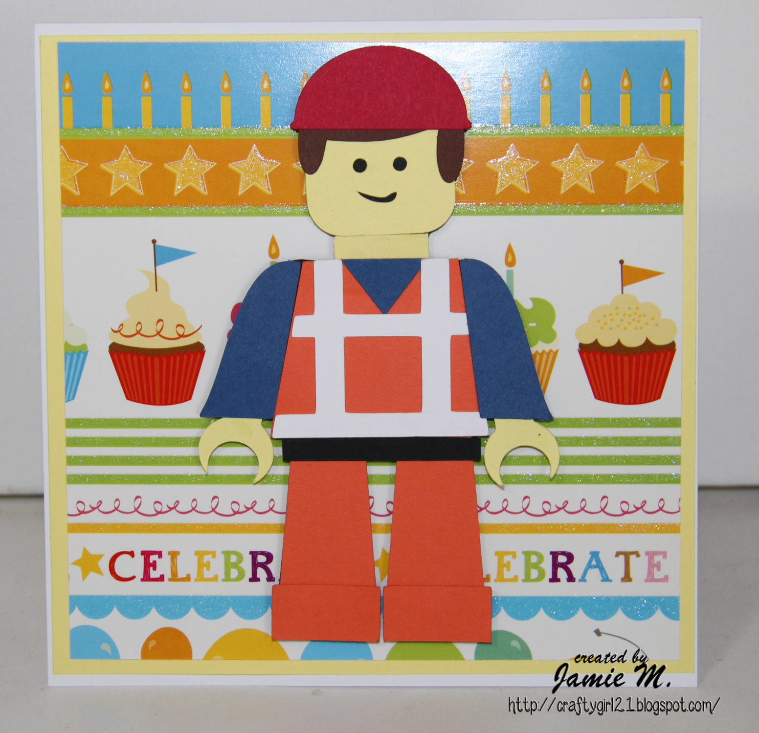 Here Is A Quick Birthday Card I Made For 6 Year Old Boy Cut The Lego Man Out With My Cameo He File From Blog Hop