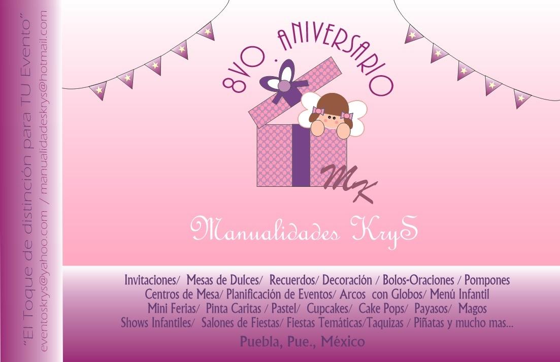 3107d39dd Manualidades KryS  AniVeRSaRio No. 8 y ORGaNiZaCióN De EveNToS!!!