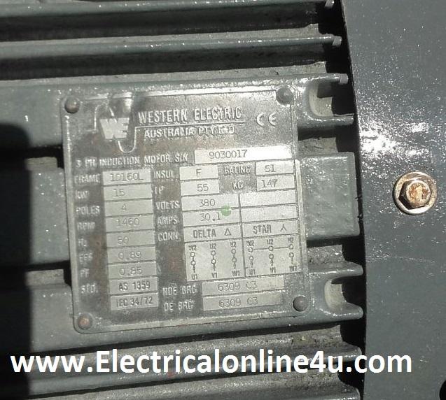 3 phase motor nameplate details