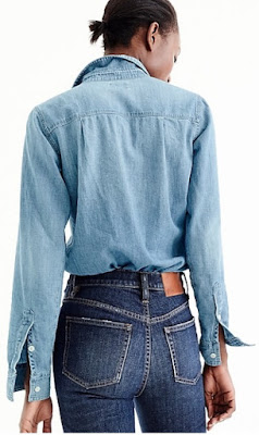 Chambray Shirt Back