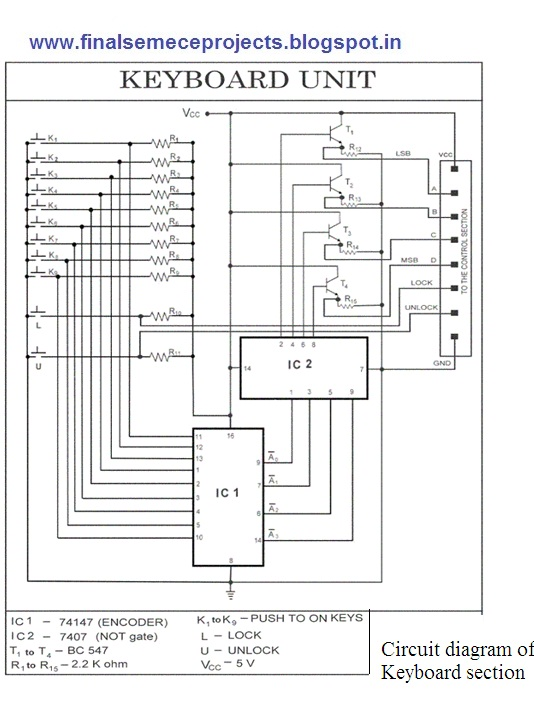 final year projects microcontroller based electronic lock. Black Bedroom Furniture Sets. Home Design Ideas