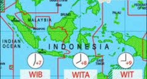 Pembagian Daerah Waktu Di Indonesia Negeri Pesona