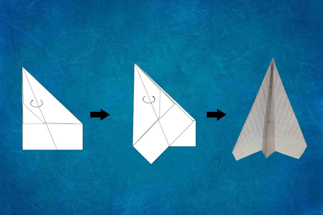 how to make a paper plane final step