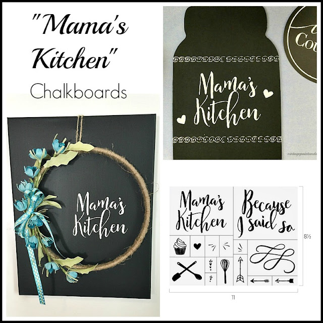Vintage Paint and more... collage for Mama's Kitchen