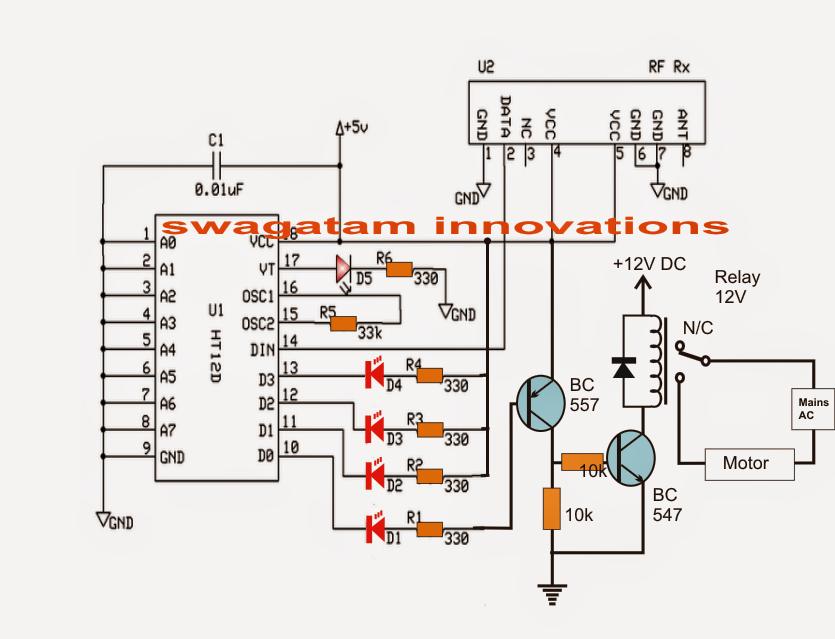 wireless power tx rx circuit diagram
