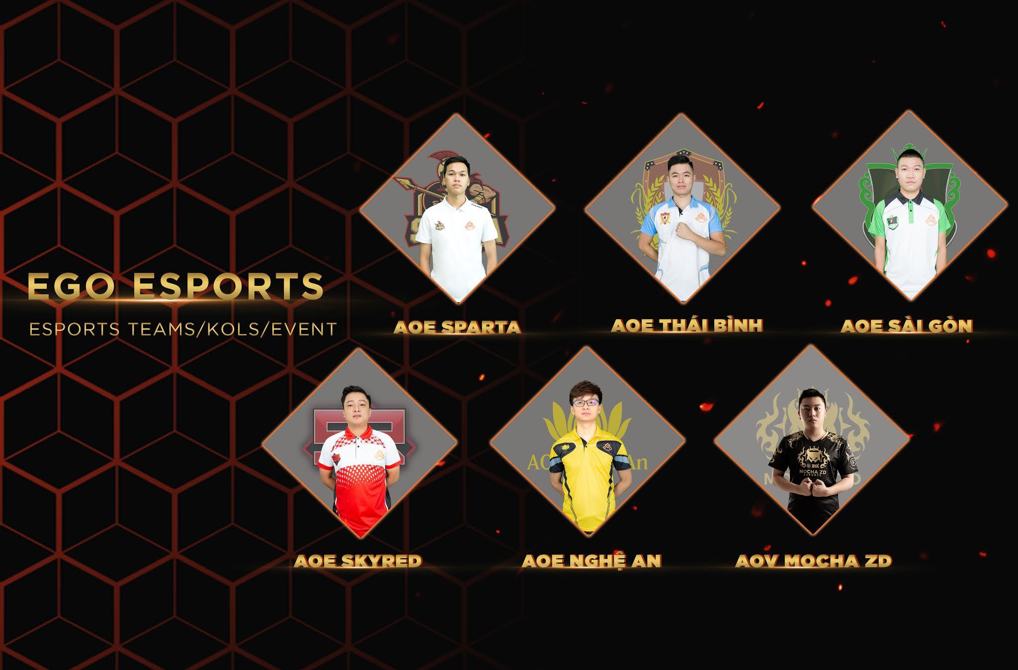 Team Esports chuyên nghiệp nhiều bộ môn