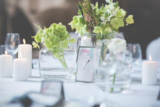 Zielony stół weselny.