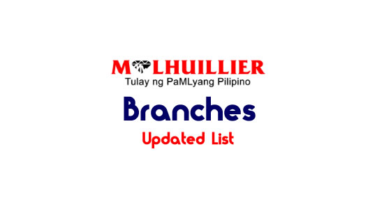 Updated List: M Lhuillier Branches Luzon, Visayas, Mindanao 2018