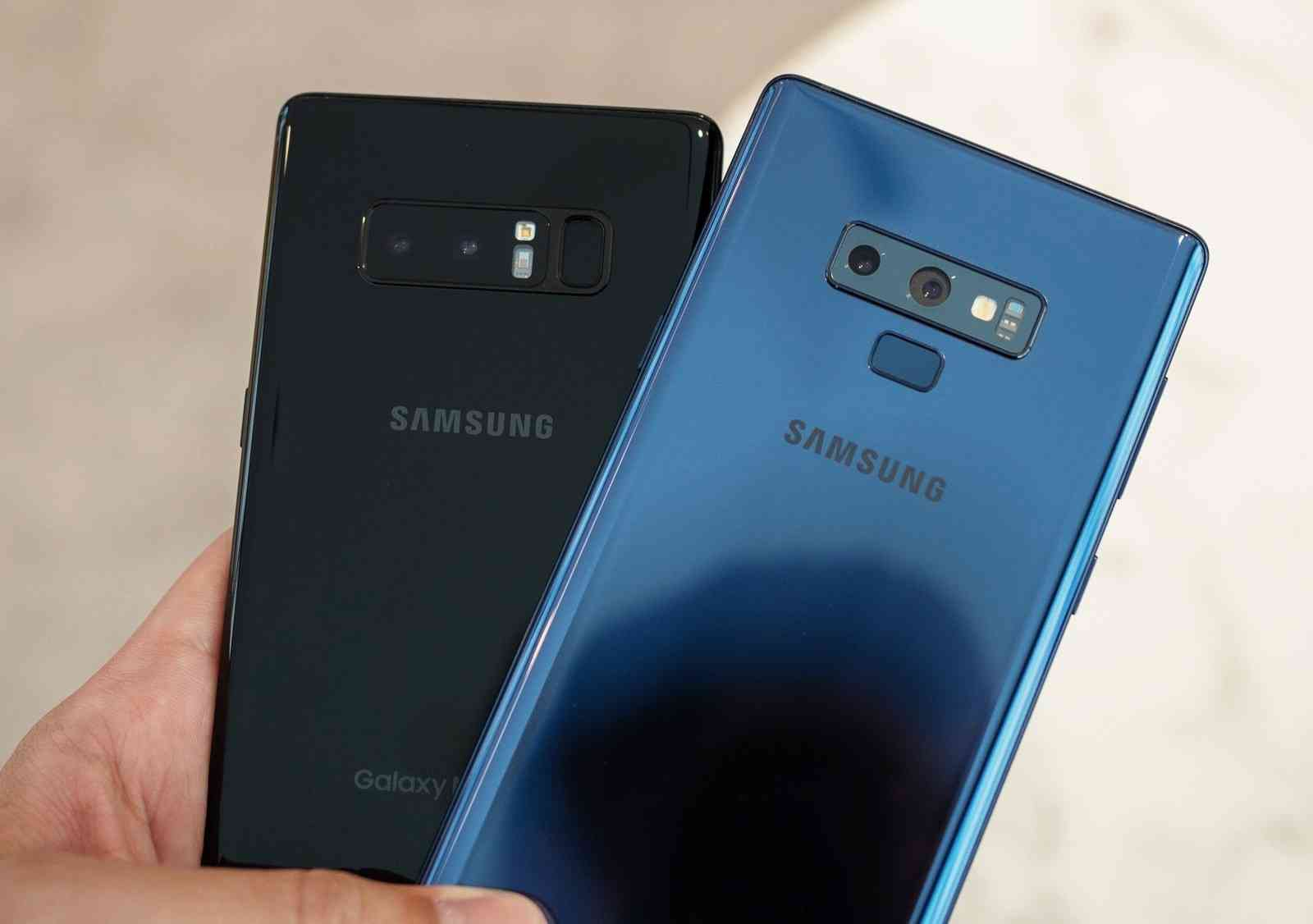 The Samsung Galaxy Note 9 Vs The Samsung Galaxy Note 8