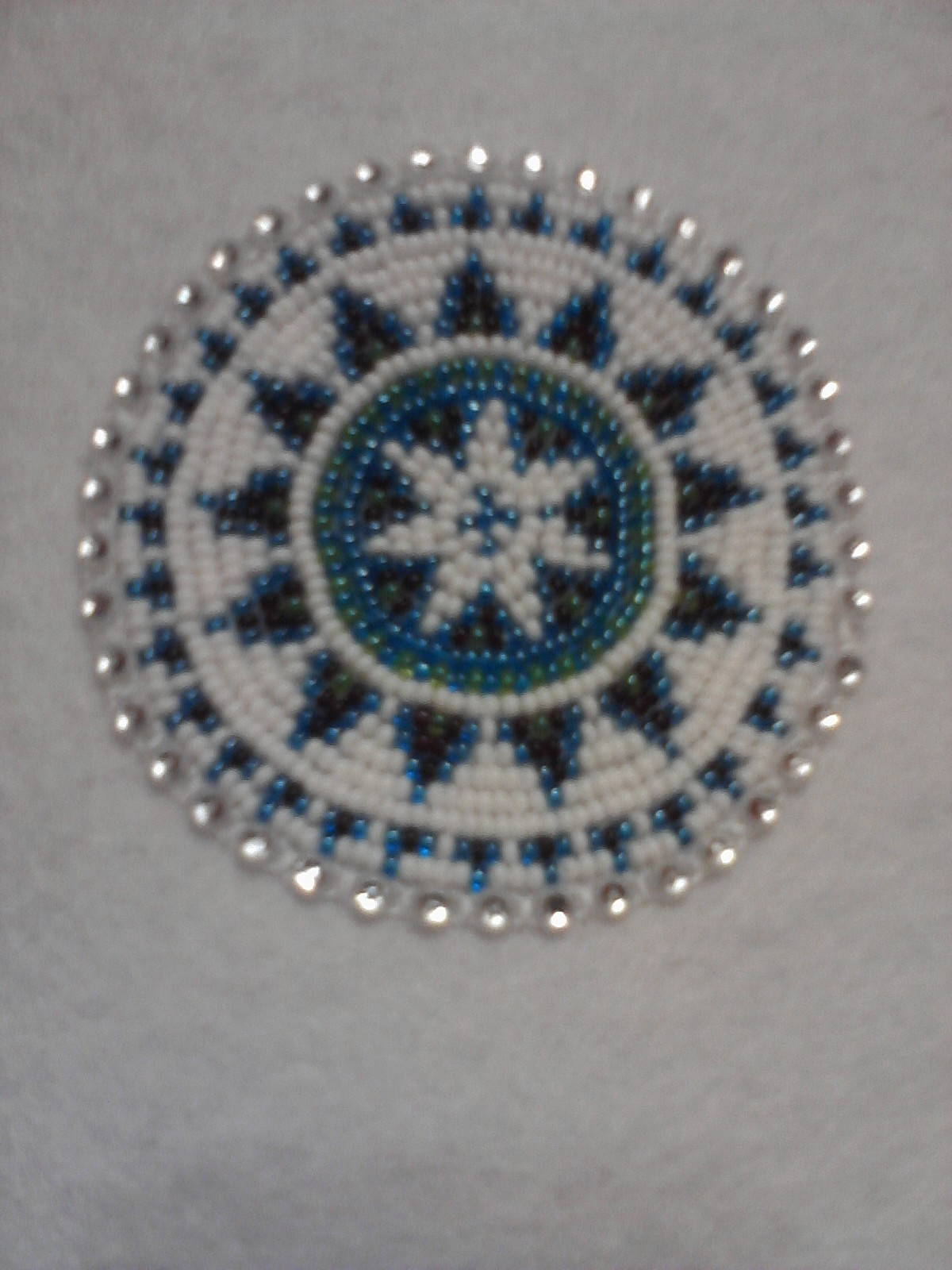 The Blue Rocking Chair More Beaded Medallions
