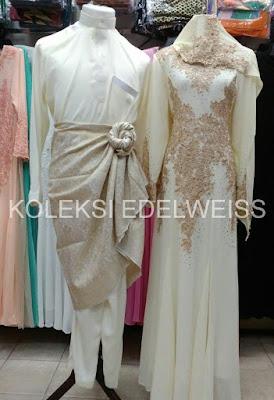 Set Baju Pengantin Warna Krim Gold