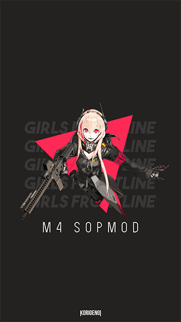 M4 SOPMOD II - Girls Frontline Wallpaper