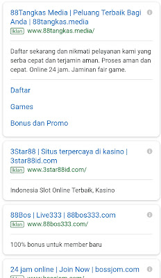 Jasa Google Adwords Khusus Situs Website Blackjack Online  Profesional