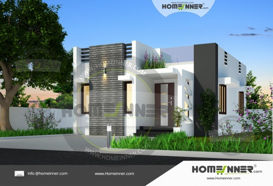 Modern Two Bedroom Simple Home Design
