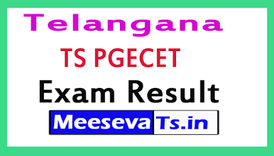 TS PGECET Exam Results 2018