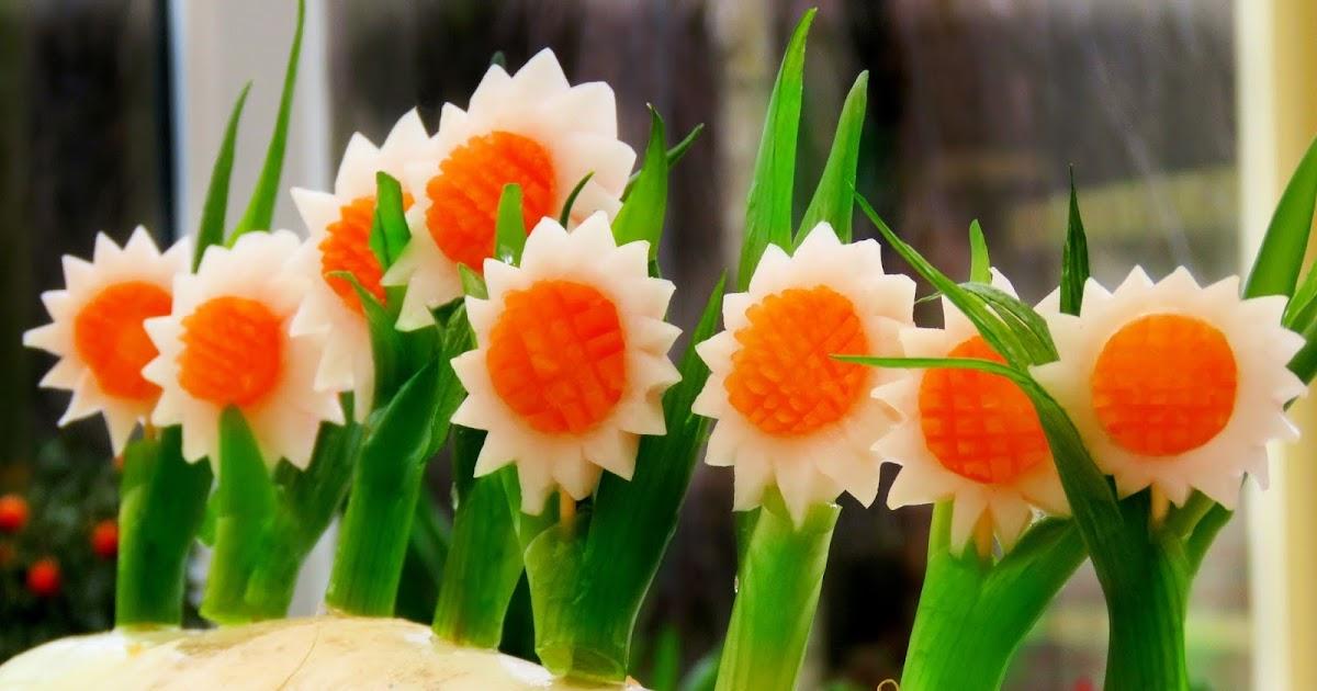 italypaul art in fruit vegetable carving lessons how On vegetable flower making