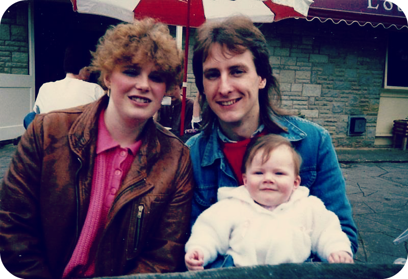 Me as a baby with my parents